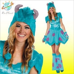 💙💜BOO! Ladies adult Sully costume💜💙